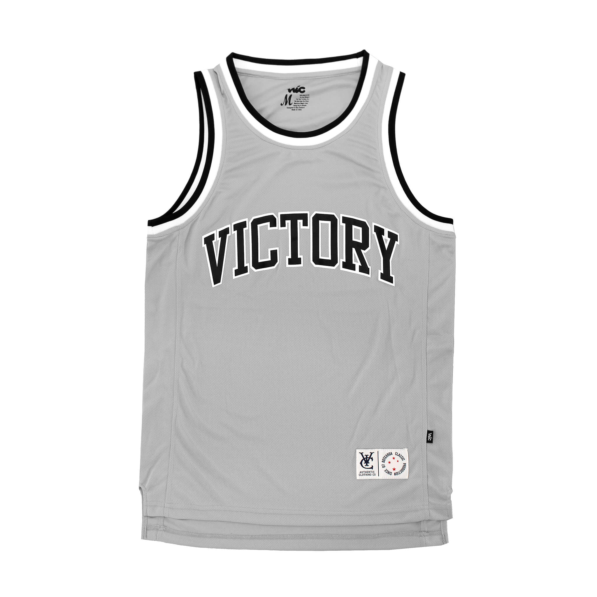 CLUB BASKETBALL JERSEY - GREY