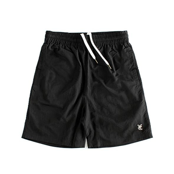 FEATHER BEACH SHORTS - BLACK