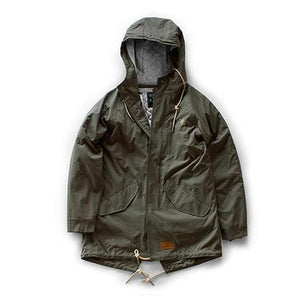 FEATHER FISHTAIL PARKA - ARMY