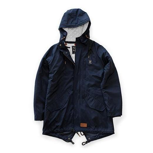 FEATHER FISHTAIL PARKA - NAVY