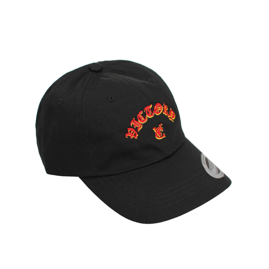 FLAME 6 PANEL CAP - BLACK