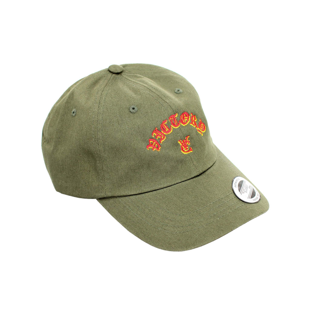 FLAME 6 PANEL CAP - OLIVE
