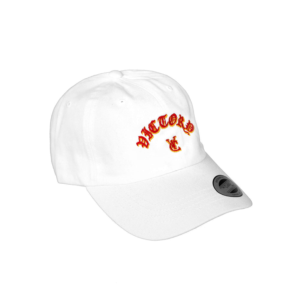 FLAME 6 PANEL CAP - WHITE