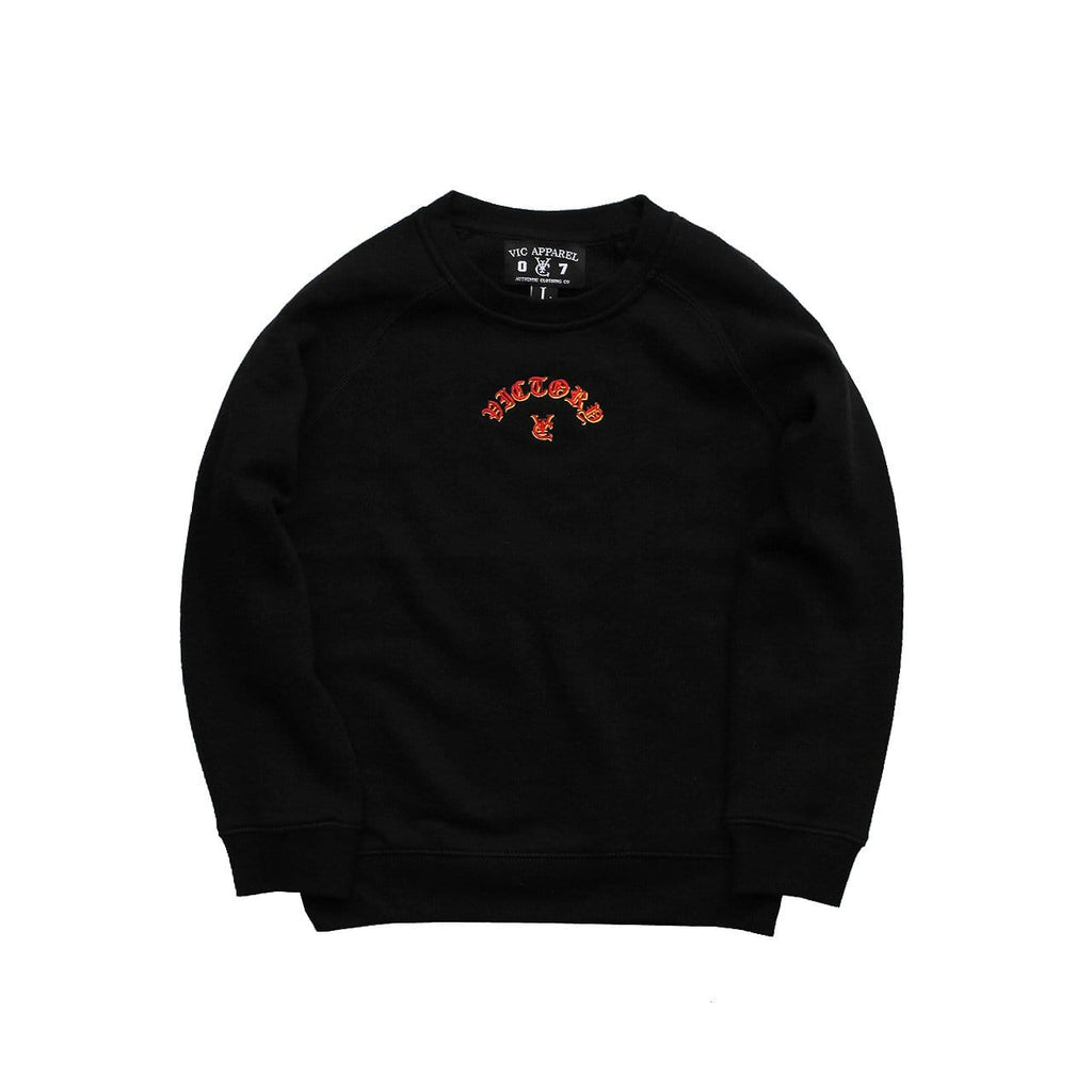 FLAME KIDS CREW - BLACK