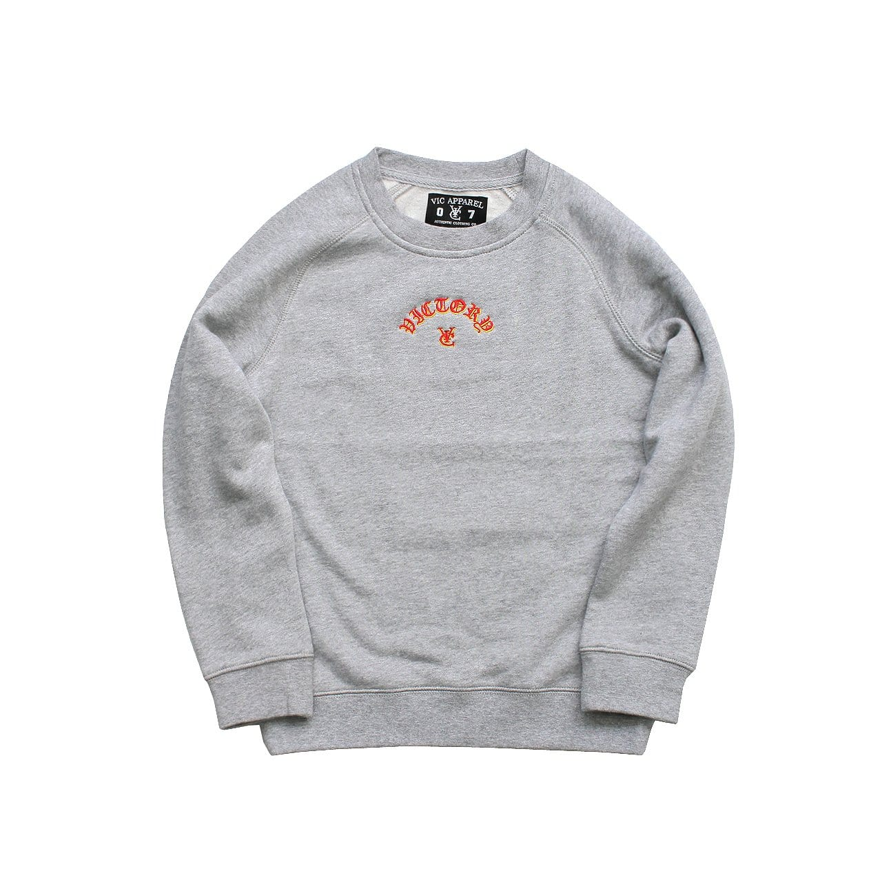 FLAME KIDS CREW - GREY MARLE