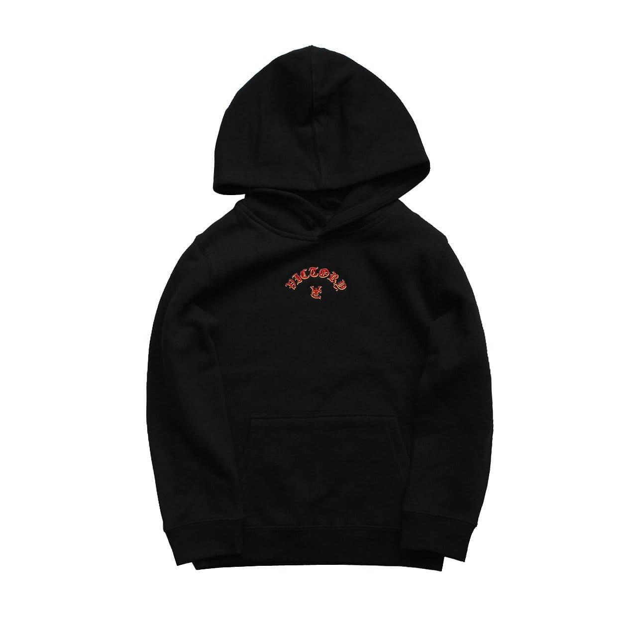 FLAME KIDS HOOD - BLACK