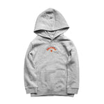 FLAME KIDS HOOD - GREY MARLE