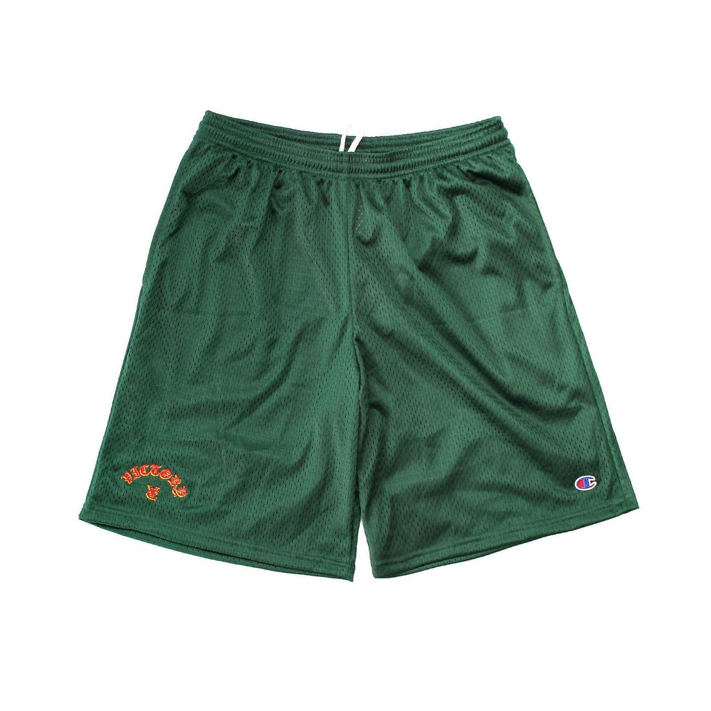 FLAME CHAMPION® MESH SHORTS - FOREST GREEN