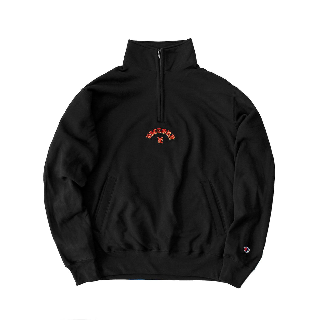 FLAME CHAMPION® 1/4 ZIP PULLOVER - BLACK