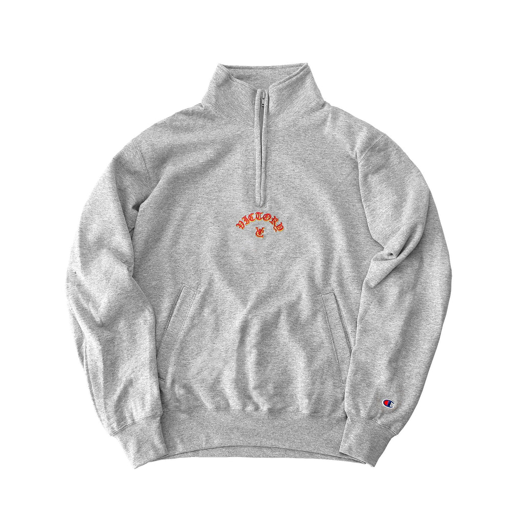 FLAME CHAMPION® 1/4 ZIP PULLOVER - GREY