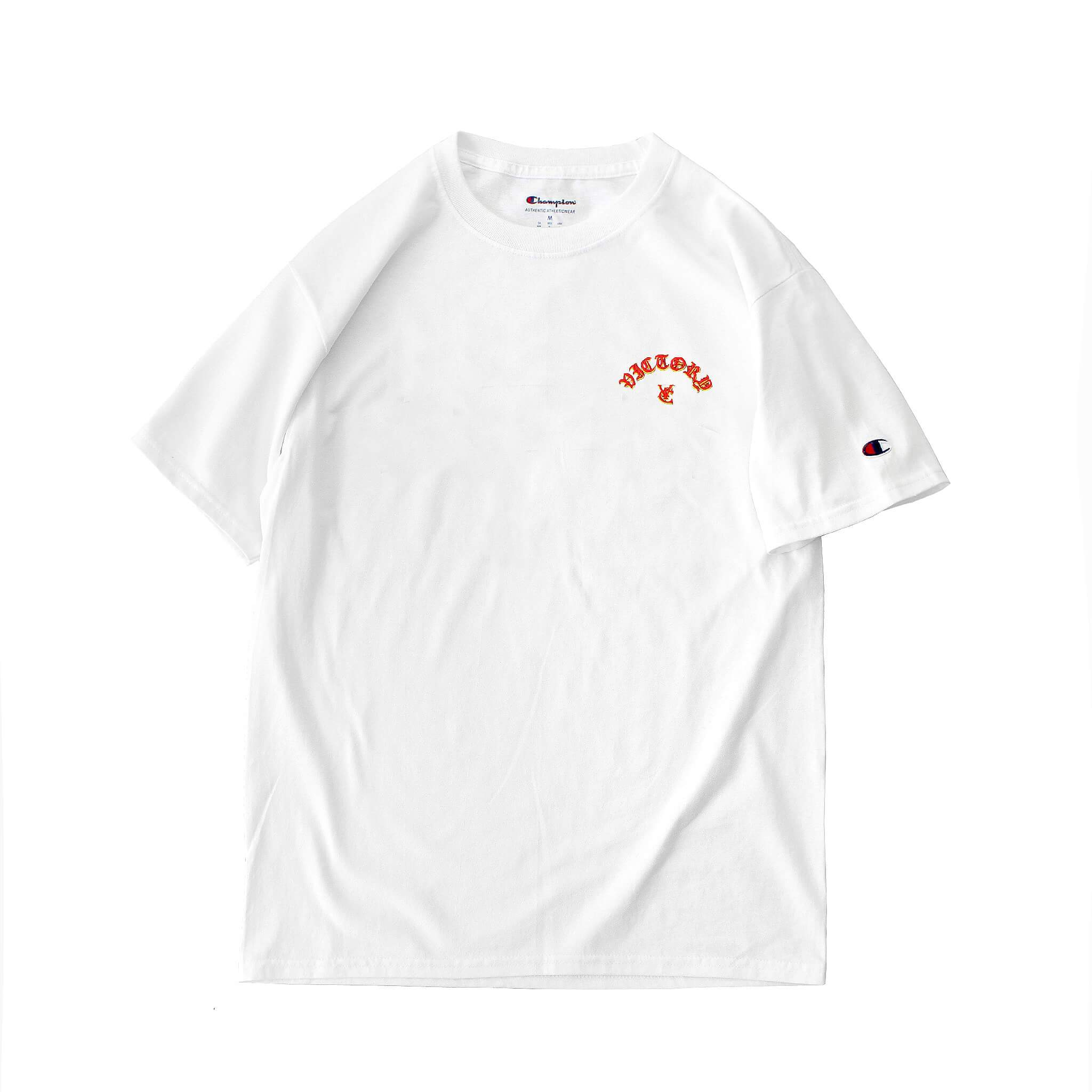 633535f8 FLAME CHAMPION® TEE - WHITE – VIC APPAREL