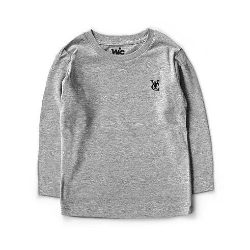 FEATHER KIDS L/S TEE - GREY