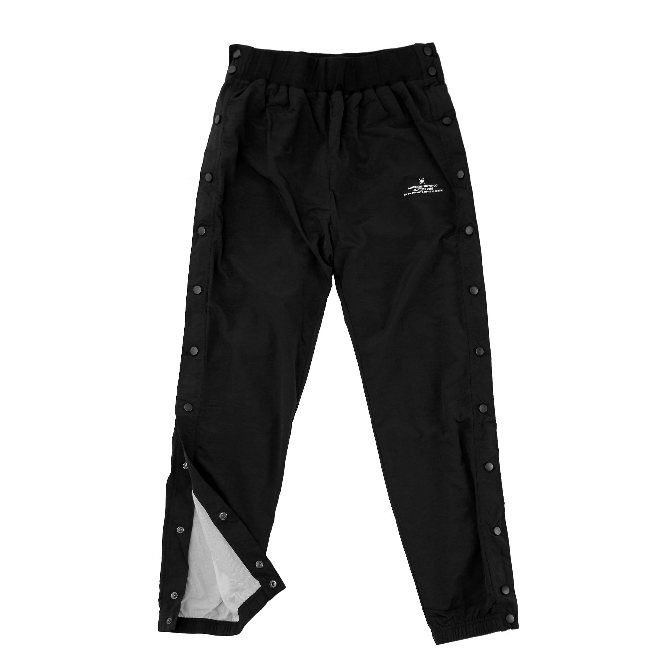 VIC SNAPS TRACKPANT - BLACK