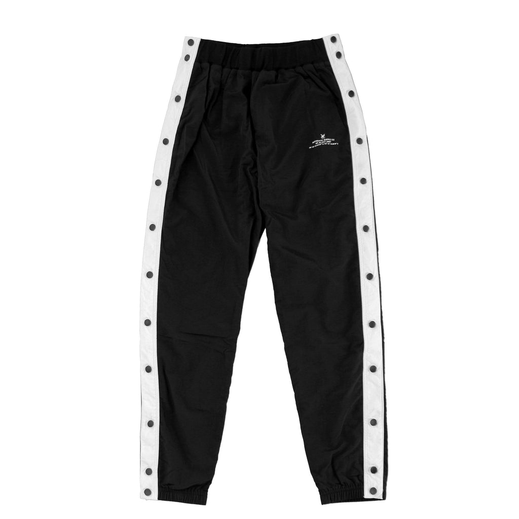 VIC SNAPS TRACKPANT - BLACK / WHITE
