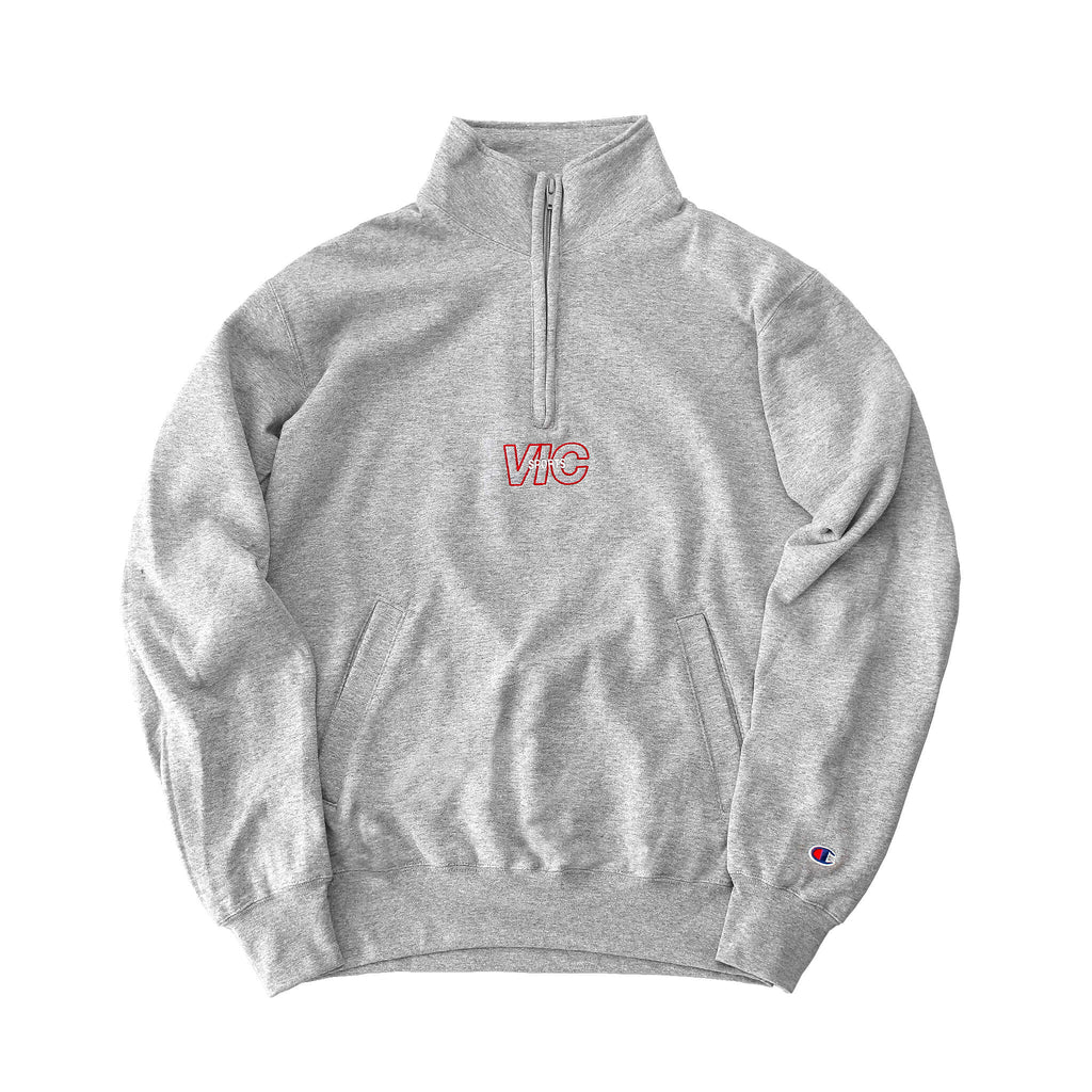 SPORTS CHAMPION® 1/4 ZIP PULLOVER - GREY