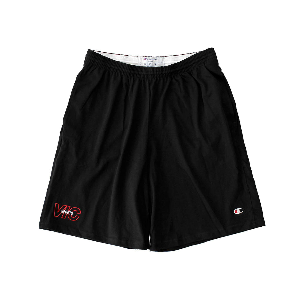 SPORTS CHAMPION® JERSEY SHORTS - BLACK