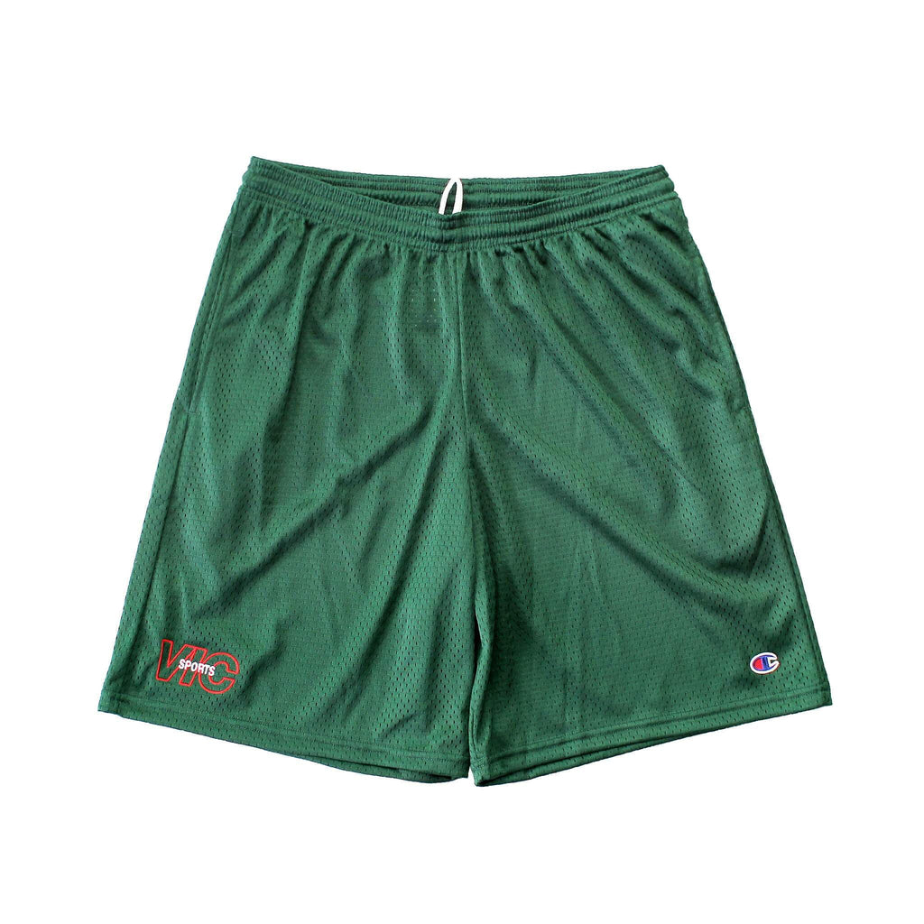 SPORTS CHAMPION® MESH SHORTS - FOREST GREEN