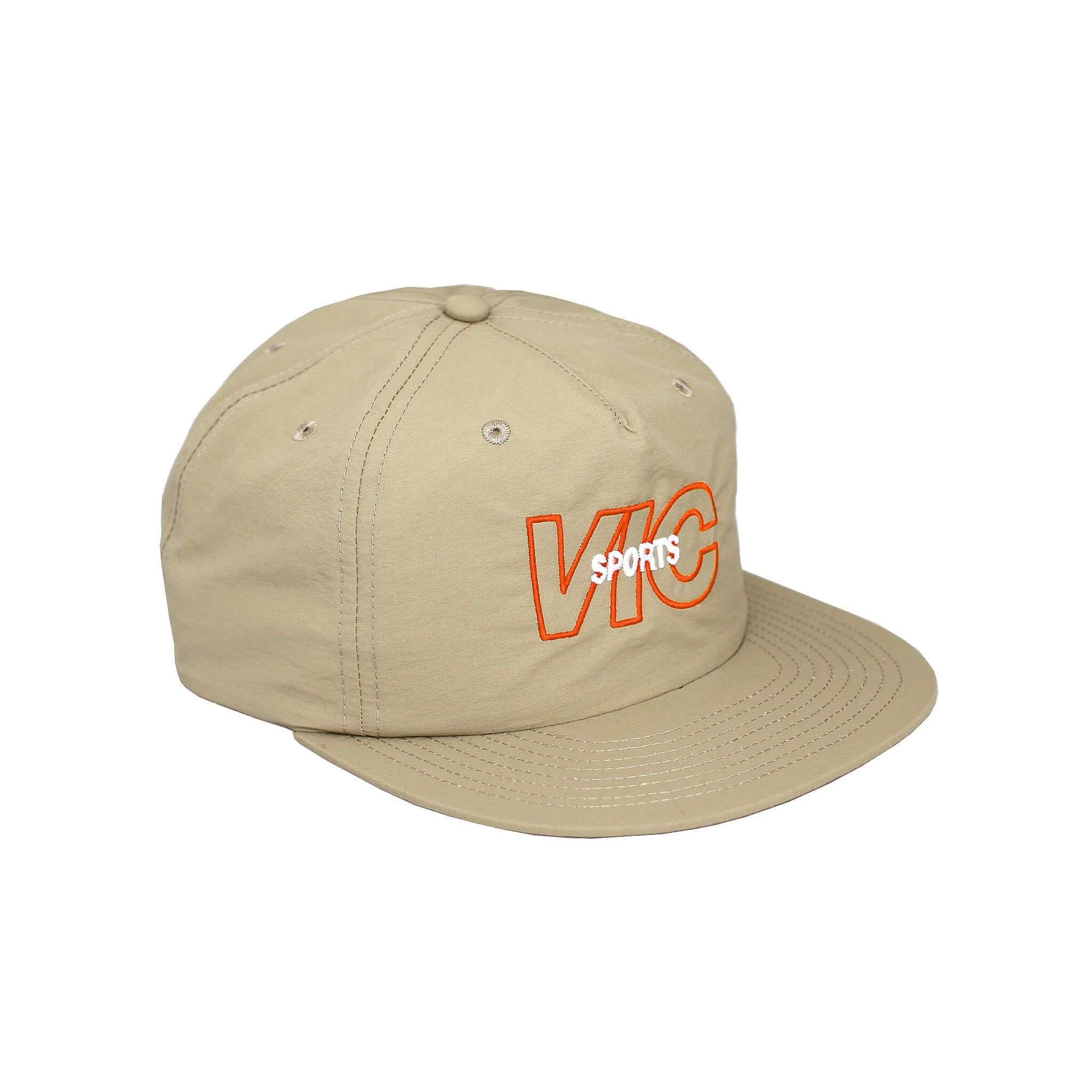 Premium quality unstructured 5-panel snapback hat by New Zealand skate and streetwear clothing label VIC Apparel. Embroidered logo. Classic vintage retro cap style.
