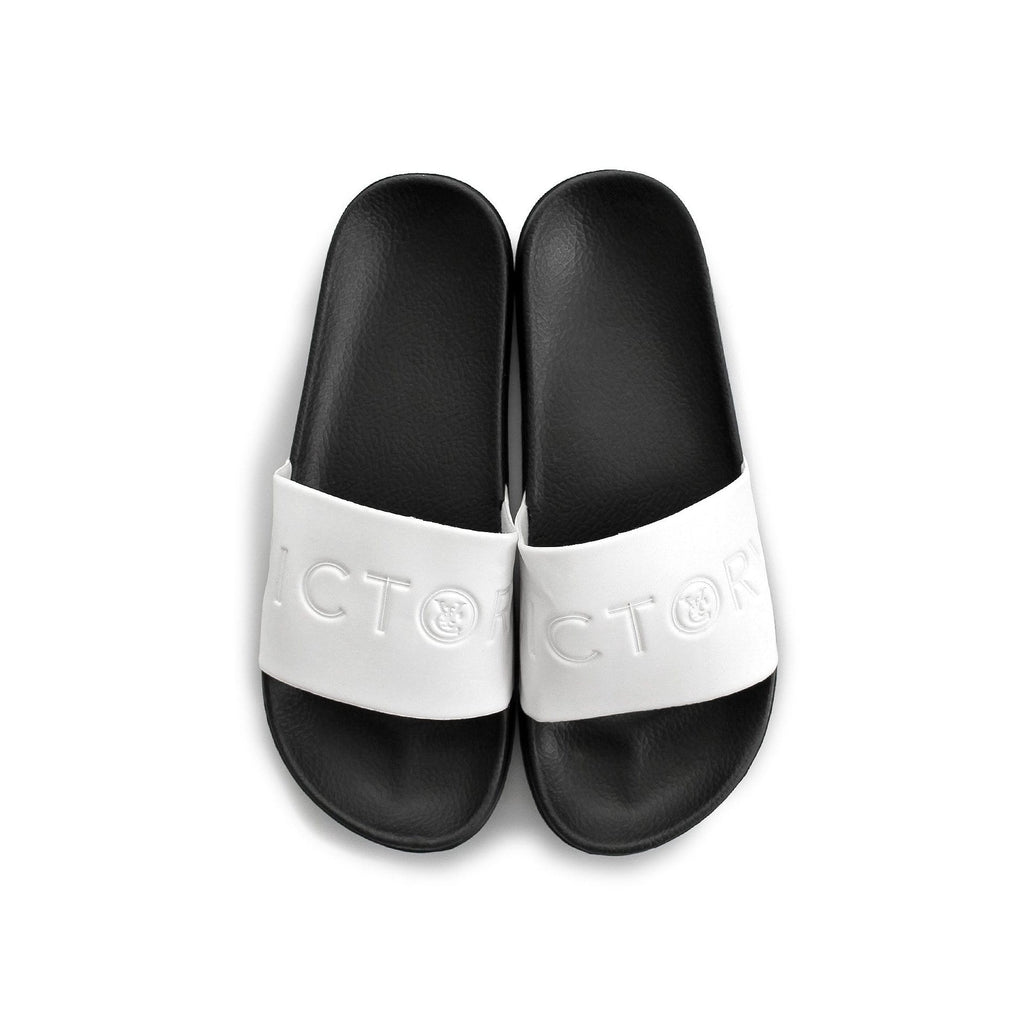 VIC SLIDES - WHITE / BLACK