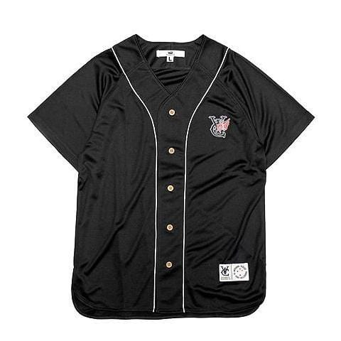 WING BASEBALL JERSEY - BLACK