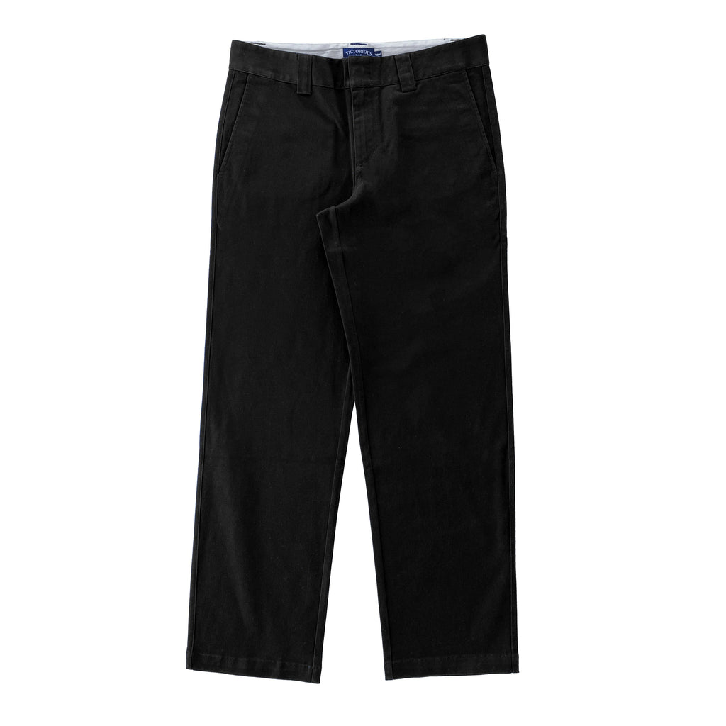 Premium quality classic heavy-duty work pants by New Zealand skate and streetwear clothing label VIC Apparel. American classic vintage workwear style. Loose fit. Relaxed through the hip and thigh, with a slightly tapered leg. Wrinkle resistant.