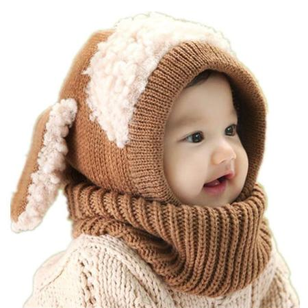 Babies Ear Pattern Cape Design Knitted Hat