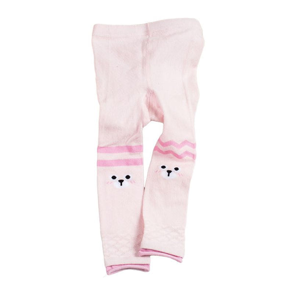 Cute Girls Cotton Animals Face Printed Tights