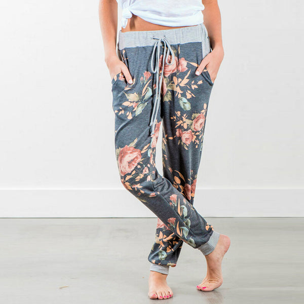Floral Printed Loose Pants