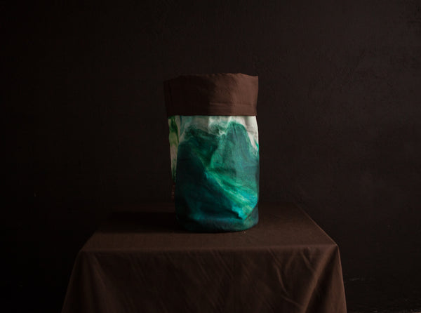 The Multipurpose Fabric Basket (cylinder) - Aquamarine