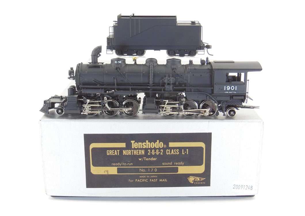 HO Brass Tenshodo GN - Great Northern 2-6-6-2 Class L-1 Factory Painted 1978 Run Crown SN
