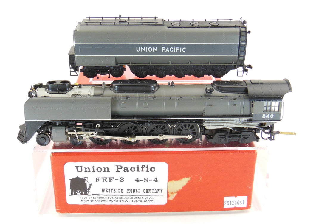 HO Brass Westside Model Co. UP - Union Pacific Class FEF-3 4-8-4 Custom Painted
