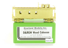 Load image into Gallery viewer, HO Brass OMI - Overland Models, Inc. D&RGW - Denver & Rio Grande Western Wood Caboose AB Brake