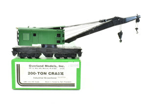HO Brass OMI - Overland Models, Inc. Various MOW - Maintenance of Way 200-Ton Crane Industrial Brownhoist Custom Painted