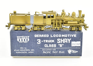 HO Brass PFM - United Various Logging Roads 3-Truck Shay Class B Geared Locomotive