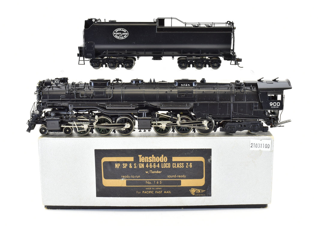 HO Brass PFM - Tenshodo SP&S - Spokane Portland & Seattle 4-6-6-4 Loco Class Z-6 Factory Painted 1975 Run