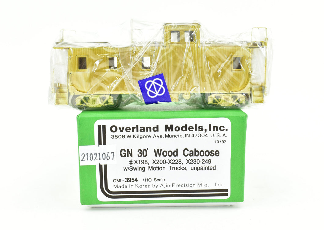 HO Brass OMI - Overland Models, Inc. GN - Great Northern 30' Wood Caboose Factory New