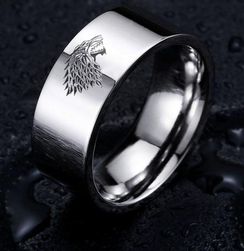 Game of thrones house stark ring SILVER