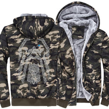 Load image into Gallery viewer, Vikings customized jacket with camouflage sleeves