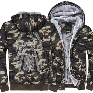 Vikings customized jacket with camouflage sleeves