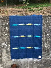 Thunderbird Blanket in Deep Ocean (4' x 6.5')