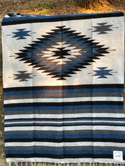 MIDNIGHT BLUE Heavy Weave Diamond Blanket (Thick and Cozy)