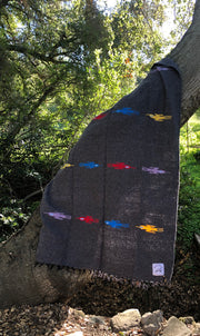 Thunderbird Blanket in Dark Granite (4' x 6.5')