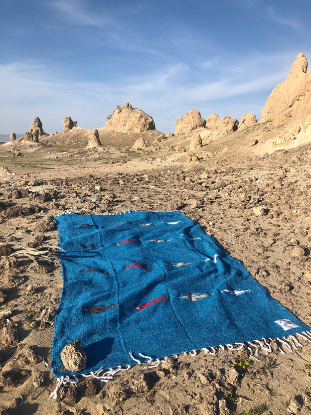 Thunderbird Blanket in Royal River (4' x 6.5')