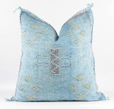 TEAL CLOUDS Moroccan Pillow