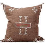 Moroccan Pillowcase in Coffee Brown