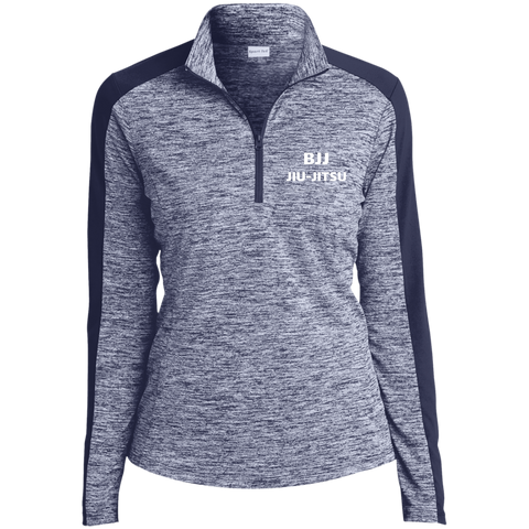 Image of Tek Ladies' Electric Heather Colorblock 1/4-Zip Pullover