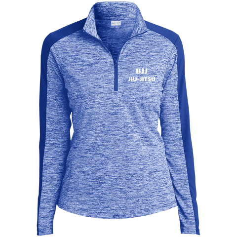 Tek Ladies' Electric Heather Colorblock 1/4-Zip Pullover