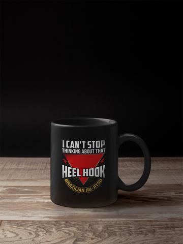 BJJ Heel Hook Black Mug
