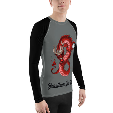 Men's BJJ Rash Guard - Red Dragon