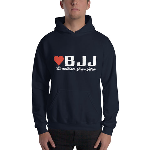 Hooded Sweatshirt - I love BJJ